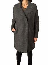 FUCHS SCHMITT giaccone donna sfoderato grigio 100% lana