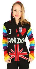 Ladies I Love London Cotton Pixie Pointed Hood Multicolor Hippie Jacket Hoodie