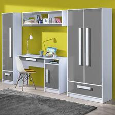 Teen Furniture Set GULIVER 2 Wardrobe Desk Shelf Cabinet Matt&Gloss New