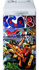 Sticker lave linge déco électroménager Graffiti Tag réf 23 40x80cm