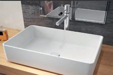 """Waschbecken Mineralguss Aufsatzwaschbecken """"Minimal""""  580x370x130mm Eckig"""
