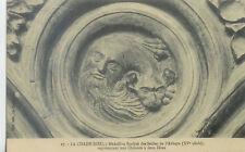 43-LA CHAISE-DIEU médaillon sculpté des stalles de l'Ab