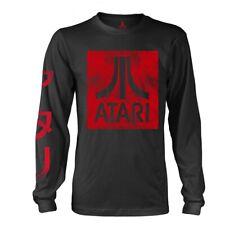 Atari 'Box Logo' Black Long Sleeve T shirt - NEW