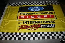 Ford Powerstroke diesel flag nascar racing truck pickup power stroke gear cap ps