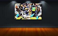 LEINWAND BILD BILDER XXL POP ART AMERICAN FOOTBALL NFL BUNT ABSTRAKT BIS 150x90