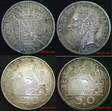 Belgique pièces en argent 1800 onward choix de pièces