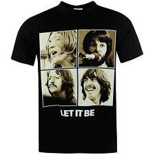 The Beatles Let It Be T-Shirt Mens Black Tee Shirt Tshirt Top