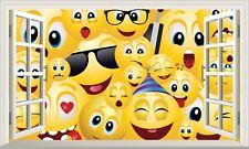 Magic Window Wall Art Self Adhesive Sticker Decal Emoji Emoti Large Print Poster