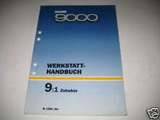 Werkstatthandbuch Saab 9000 Zubehör, Stand 1985-88
