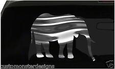 Elephant Sticker Africa Safari S1 all chrome and regular vinyl colors