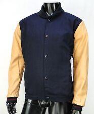 New Diamond Supply co. Brilliant Twill Leather Varsity Mens Jacket Coat