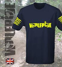 Flúor con logotipo en amarillo, impresión de Bicicleta Mountian, deporte, gimnasio, drenaje, técnico