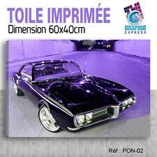 60x40cm - TOILE IMPRIMÉE TABLEAU- VOITURE PONTIAC FIREBIRD CAR - PON-02