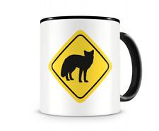 Füchse Warnschild Tasse Kaffeetasse Teetasse Kaffeepott Kaffeebecher Becher