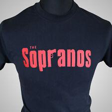 The Sopranos Retro TV Series T Shirt Gangster Mob Tony Vintage Cool