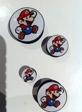 Pair Super Mario Ear Plugs Flesh Tunnel Tunnels Stretcher