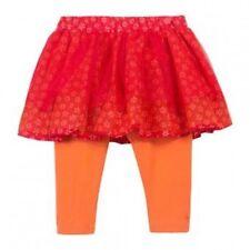 Jupe Legging Tulle Fleurs Orange Coquelicot Catimini Taille 3 ans Neuve
