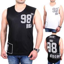 Redbridge Tank-Top Herren Oversized Print Mesh Layer Shirt Singlet RB-1809 NEU
