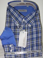 Camicia classica uomo Cool Man manica lunga collo Button down art 170