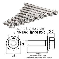 M6x1mm Titanium Ti Socket Hex Head Flange Bolt Cap Screws various size 10-65mm