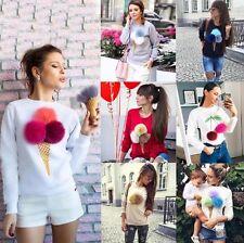 Fashion Women Long Sleeve Casual Loose Pullover Sweaters Tops Jumper Knitwear