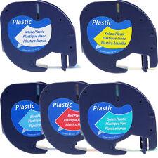 Compatible DYMO Color LetraTag Tapes Paper/Plastic Label 12mm Tape 1/2'' x 13ft