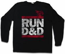 Run d&d Uomo Manica lunga T-SHIRT FUN Dungeons & pen and paper Dragons gioco di ruolo