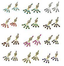 Assorted Colour Crystal Diamante Saree Blouse Duppata Lehenga Latkan Tassel