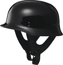 Fly Racing 9MM Half Helmet GLOSS Black Mens CRUISER CHOPPER BOBBER HARLEY STYLE