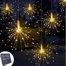 Garland Lights Outdoor Firework Xmas Light Solar Power Strings Copper Wire Bulbs