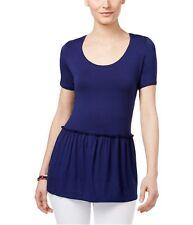 G.H. Bass & Co. Womens Peplum Basic T-Shirt