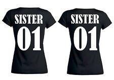 Rundhals T-Shirt SISTER & SISTER für Schwestern, Freundinnen etc.