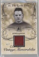 2015 Leaf In the Game Used Vintage Memorabilia #VM-02 Aurele Joliat Hockey Card