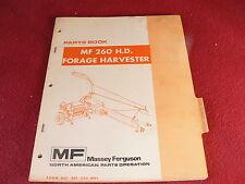 Massey Ferguson 260 HD Forage Harvester Originial Dealer's Parts Book
