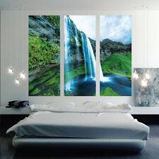 Waterfall Mural Wallpaper Window View Wall Decal Beautiful Living Room, c57
