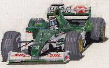 Eddie Irvine Formula 1 contato CROSS STITCH KIT o grafico 14S AIDA