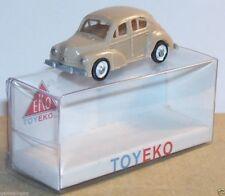 MICRO TOY EKO TOYEKO HO 1/86 1/87 MADE SPAIN RENAULT 4CV REF 2005 + 6005 F & T