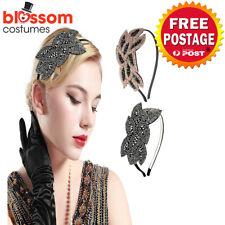 K613 1920s Headband Vintage Bridal Gatsby Chicago Flapper Charleston Headpiece