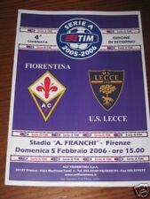 FIORENTINA LECCE PROGRAMMA PROGRAMME SERIE A 2005/06