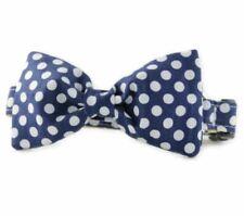 Navy Dot Bow Tie Dog Collar