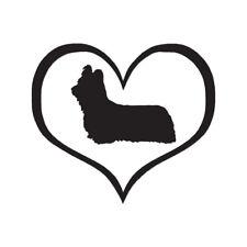 Heart Skye Terrier Dog Love - Vinyl Decal - Multiple Color & Sizes - ebn1518