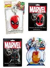 Marvel Comics Bendable Keychains Spiderman Iron Man Deadpool Captain America