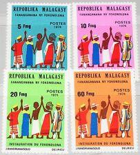 MADAGASCAR MALAGASY 1974 728-31 514-17 Fokonolona Community Org Citizens MNH