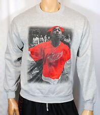 Tupac Shakur Sweatshirt Crewneck Sweater Red Wings NHL Hip Hop NWA