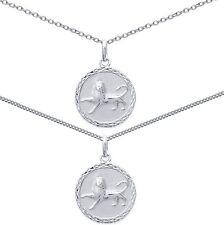 Pendentif Médaille Zodiaque LION ARGENT NEUF + CHAINE