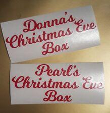 Nome Personalizzato Adesivo Vinile/Adesivo per Natale/Regalo Di Natale Vigilia Box/regalo