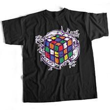 Big Bang Theory Rubik's Cube Funny Retro T Shirt Rubix 80S Sheldon Puzzle