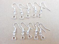 50-200PCS DIY 925 sterling silver Hooks Earrings Pinch Bail Earring Earwire