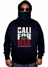 Men's California Republic Mask Hoodie Cali Life Bear State Pride Sweater Jacket
