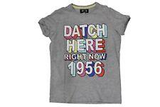 T-Shirt da bambino grigia Datch manica corta girocollo cotone junior casual moda